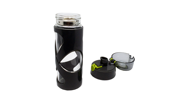 Black Tumbler with filter
